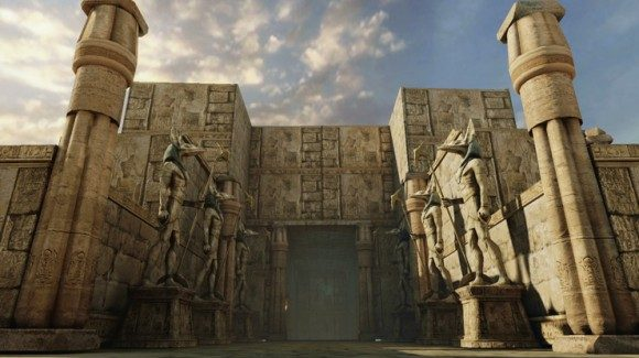 Land of the Dead: Ancient Egyptian ruins, with scenery of godly lore
