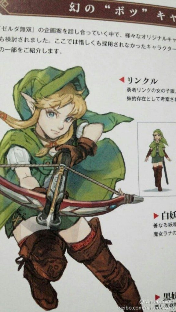 Female Link Linkle Introduced To Hyrule Warriors Legends Mxdwn Games