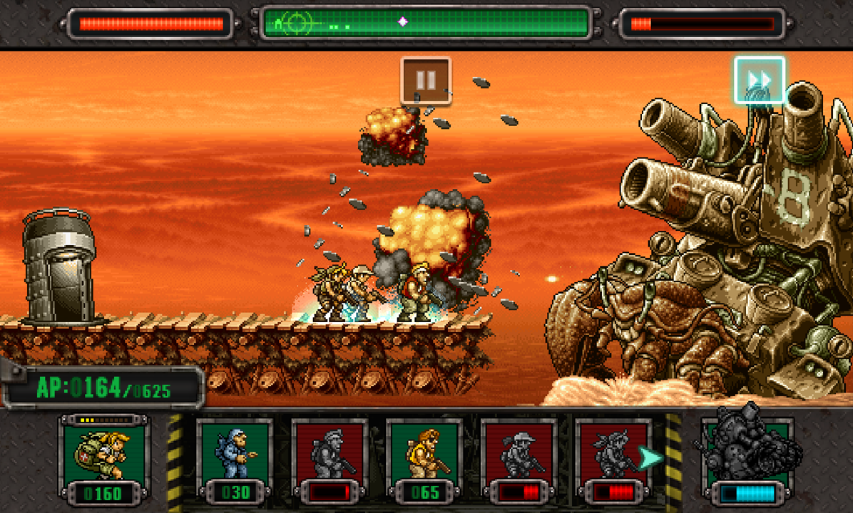 A screenshot of SNK Playmore's recent Metal Slug Defense.