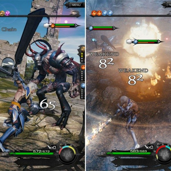 final fantasy mobius mobile gameplay 2016