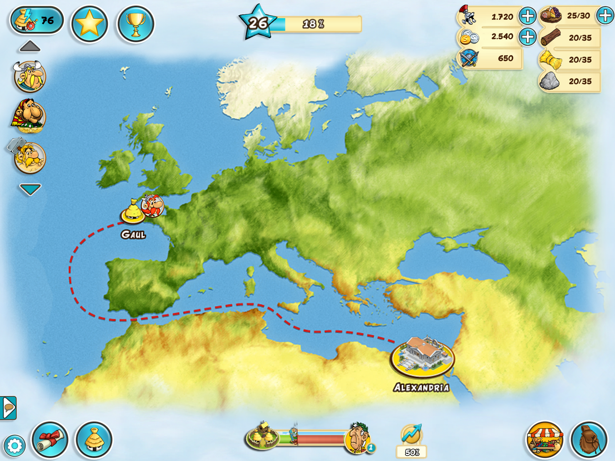 Gaul World Map.Asterix And Friends Launches On Ios And Android Mxdwn Games