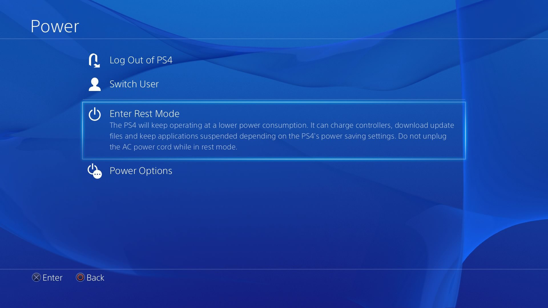 ps4 will not download update in rest mode