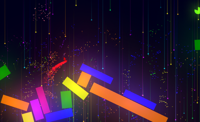 Surf On Colorful Shapes in Zero G in Spectrum Break