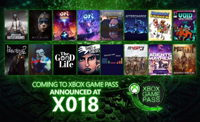X018: Xbox Game Pass Adds 16 New Games