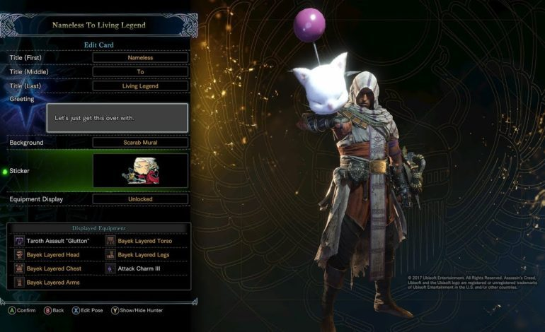 Monster Hunter: World Has A New Quest That Crosses Over With Assassin's Creed