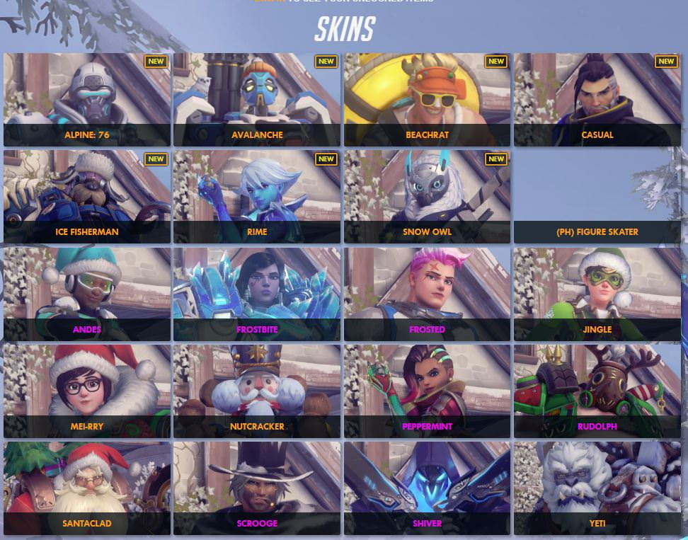 Overwatch Christmas Skins 2021 Leak Overwatch Starts To Show Off Maps And Skins For The Upcoming Winter Wonderland Event Mxdwn Games