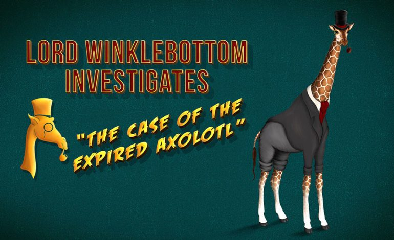 Cave Monsters Re-Launch Kickstarter for Lord Winklebottom Investigates: The Case of the Expired Axolotl