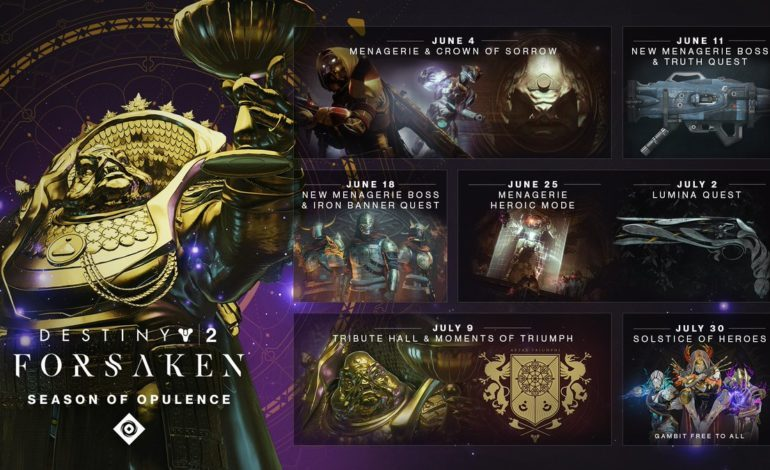 Destiny 2 Season Of Opulence Will Bring In A New Activity