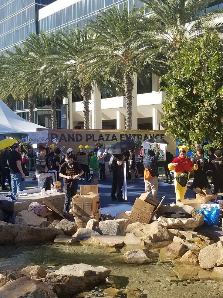 Protesters Gather Outside of BlizzCon 2019 in Opposition of Hearthstone Bans