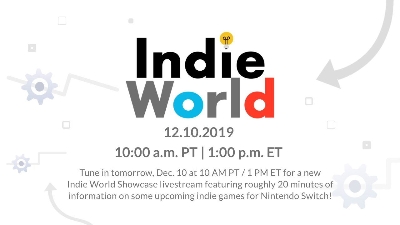 Nintendo Announces Indie World Showcase Livestream for December 10