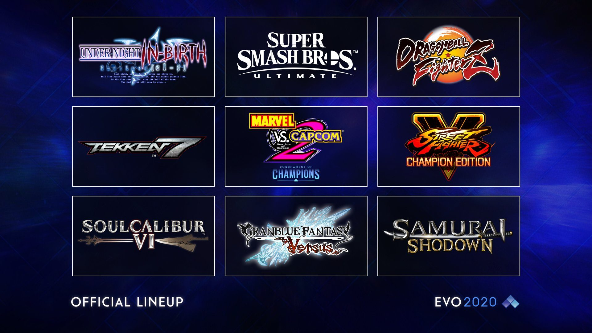 The EVO 2020 Lineup Has Been Revealed