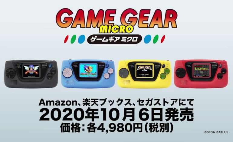 Sega Announces the Game Gear Micro, A Miniature Blast From the Past