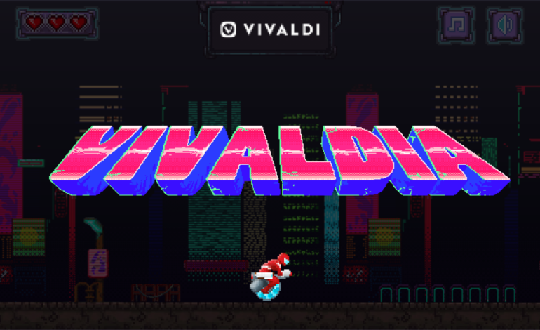 Vivaldia, A New 80s Arcade-Style Game Now Available In Vivaldi Browser