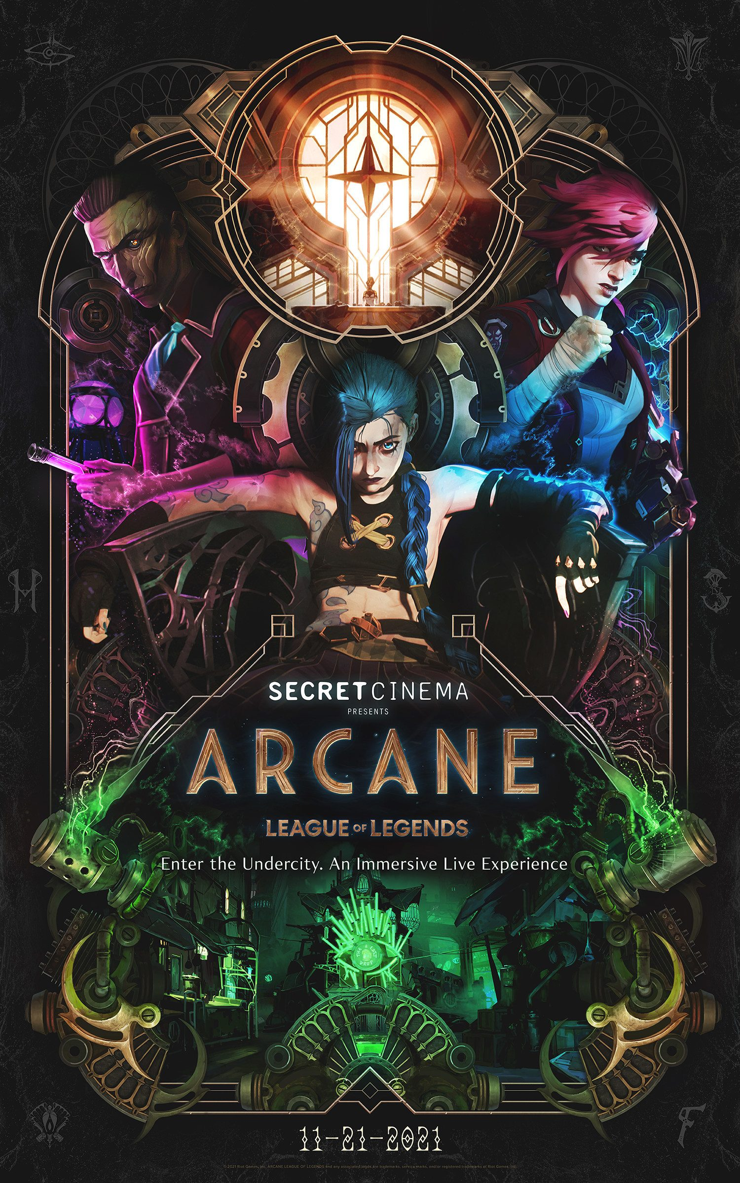 Riot Games & Secret Cinema Announce Real-Life Narrative Immersive Experience For League Of Legends Animated Series Arcane